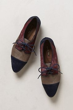 Pointed Pony Hair Oxfords #anthropologie