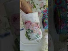 DIY Napkin / Serviette Decoupage on a Tin Something Beautiful, Tin, Upcycle, Napkins, Shabby Chic, Make It Yourself, How To Make, Gifts, Napkin Decoupage
