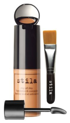 This multitasking stila product includes foundation, full-coverage concealer, a hidden mirror and a brush all-in-one for flawless makeup application.