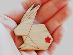Origami Bunny Brooch