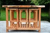 Mac-Slab Wooden Bar Leaner