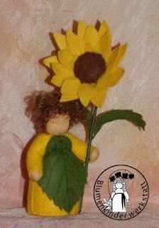 Sonnenblumen Blumenkinderwerkstatt - Blumenkinder für den Jahreszeitentisch
