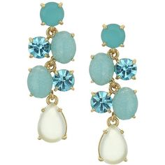 Kate Spade New York Kate Spade Earrings Chandelier Earrings (Turquoise... (€62) ❤ liked on Polyvore featuring jewelry, earrings, cocktail jewelry, chandelier earrings, green turquoise earrings, holiday jewelry and special occasion jewelry