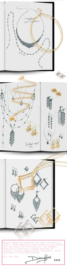 www.dinnyspearlsofwisdom.blogspot.com  Sketches from the making of the Almaz Collection. #jewellery