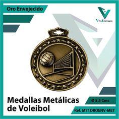 Entregamos sus Medallas en Medellin a Domicilio o Despachamos a Todo el Pais. Ref. M71OROENV-MET Ø 6cms. Su Cotización en 20 Min. Sin Compromiso 20 Min, Michael Kors Watch, Metal, Accessories, Licence Plates, Volleyball, Basketball, Bronze, Engagement