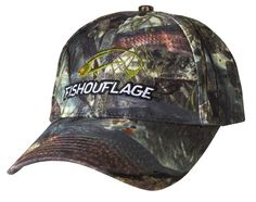 Redfish Pattern Full Camo Cap. Constructed from rugged poly twill fabric with anti-microbial treatment for freshness and wicking moisture management keeps the cap cool. Fishouflage logo on the front of the cap.