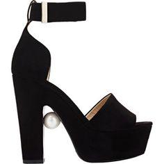 Nicholas Kirkwood Women's Pearl-Detail Platform Sandals Size