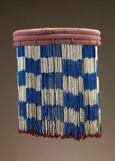 // Zulu Skirt, late 19th to early 20th c, Glass beads, cloth and plant fiber