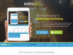 Landing page design for Kathapps by Bicky Gurung