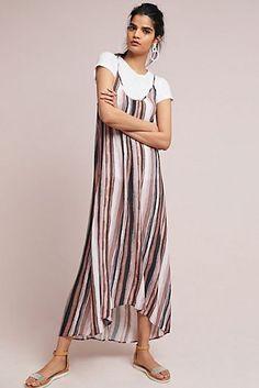 Vertically Striped Slip Dress Cute Sundresses c9063257fb48