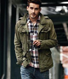 (via Fashion - Men Clothing / casual) mens fashion. fall look men's clothing Sharp Dressed Man, Well Dressed Men, Moda Men, Mode Cool, Rugged Men, Rugged Style, Man Style, Style Masculin, Foto Fashion
