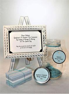Message Filled Wish Jar  Party  Baby Shower Bridal Shower