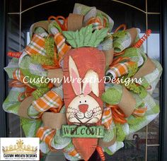 Plaid Easter Welcome Wreath. $115.00, via Etsy.