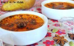 Crème Brûlée aux Poires Caramélisées, Badiane et Cardamome