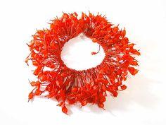 Ana Hagopian - Necklace Anemona, made of recycled fibers