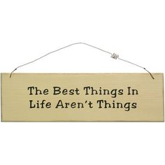 Handmade Shabby Chic Best Things In Life Wooden Sign