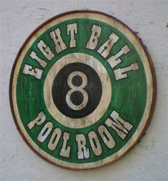 Vintage Style Eight Ball Pool Room Sign by RetroRoadVintageSign, $44.95