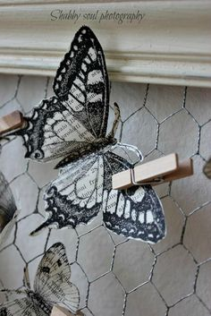 Shabby soul: Paper Butterfly - Tutorial and pattern - Printable butterflies.. maybe for our Grace Garden?