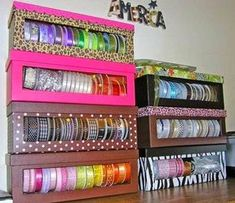 Sewing Storage Ideas Sewing Room Ideas Diy Ribbon Storage From A Shoe Box