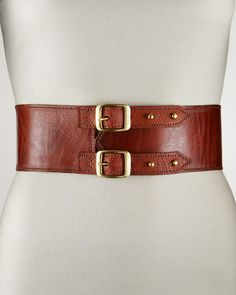Double-Buckle Belt, Medium by Motif 56 at Bergdorf Goodman.