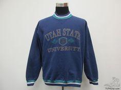Vtg 90s Gear Utah State University Aggies Crewneck Sweatshirt sz L Large NCAA #Gear #Crewneck #tcpkickz