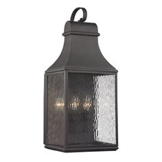 ELK Lighting 47073/3 Forged Jefferson 3 Light 27 inch Charcoal Outdoor Wall Sconce