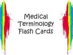 Student Survive 2 Thrive: Free Medical Terminology Flash Cards: Color Prefixes and Combining Forms Medical Terminology Flash Cards, Medical Billing And Coding, Medical Assistant, Prefixes, Medical Field, Anatomy And Physiology, Medical School, Rn School, Nurse Life