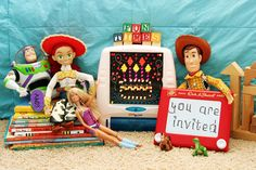 Toy story invitation...cute! Could have an Etch-a-Sketch inspired invite.
