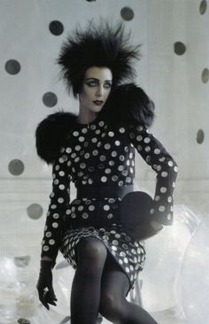 A Play of Dots | Vogue Italia September 2009 Hannelore Knuts by Tim Walker Dolce & Gabbana | Fall 2009 RTW