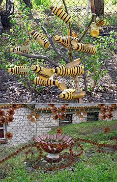 Best Way To Use Plastic Bottles For The Second Time -The Best Way To Use Plastic Bottles For The Second Time - Los artículos de las botellas de plástico: el Lago de la belleza y mucho otro. Garden Crafts, Diy Garden Decor, Garden Projects, Garden Decorations, Bee Crafts, Garden Whimsy, Garden Junk, Garden Sheds, Recycled Art Projects
