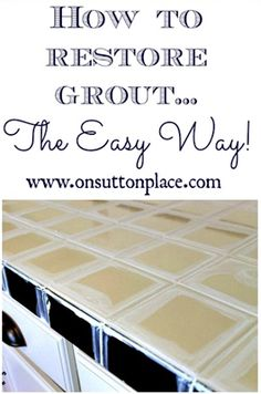 How To Restore Grout Diy Project