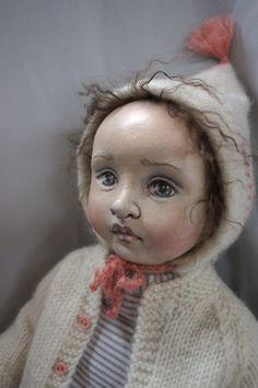 wonderful cloth doll by artist Susie McMahon