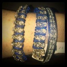 "I just added this to my closet on Poshmark: ""ZENZII"" Navy Blue And RhineStone Bracelet Wrap. Price: $19 Size: OS"
