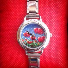 Enter to win: Summer Poppies Watch by Ira Mitchell-Kirk | http://www.dango.co.nz/pinterestRedirect.php?u=GzMQbSRW4246