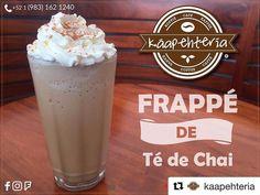 @kaapehteriaComienza esta mañana con un delicioso Frappé de Té Chai... TE ENCANTARÁ!  SERVICIO A DOMICILIO AL (983) 162 1240.  #Káapehtería #TeHaceElDía #ConsumeLocal #KáapehCOMBO #Káapehtear #Cafetería #Café #Alimentos #Postres #Pasteles #Panes #Cancún #Chetumal #México