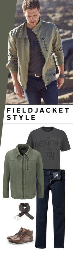 Die Fieldjacket ist ursprünglich eine Feldjacke der US-Streitkräfte, die im Gegensatz zum Parka nur bis zur Hüfte reicht. In Kombination mit dem lässigen Jeans`n-Boots-Look garantiert sie ein cooles Outfit für den Herbst – so einfach und stylisch!