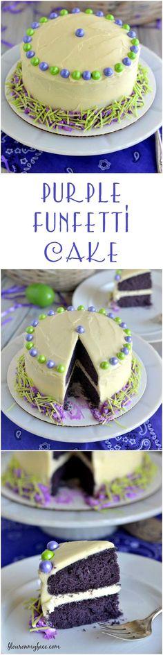 A Purple Finetti Cak