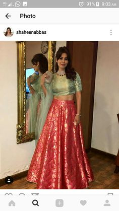 Indian Dresses, Indian Outfits, Indian Clothes, Lehnga Dress, Lehenga Blouse, Sari, Designer Bridal Lehenga, Bridal Sarees, Dress Outfits