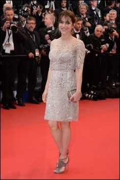 Audrey Dana in Elie Saab Resort 2013 at the 66th Annual Cannes Film Festival