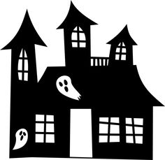Habbo Haunted House Castle Building Habbo House In Halloween Cartoons, Scary Halloween, Halloween Cut Outs, Haunted Mansion Halloween, House Silhouette, House Vector, Halloween Lanterns, Spooky House, Home Icon