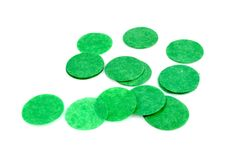 EMERALD GREEN CONFETTI (33 grams) - Emerald Green Pre-Cut Confetti Circle Tissue Paper (2.5cm / 1 inch Diameter) - Light & Co