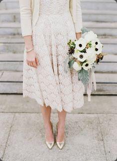 lace + anemones