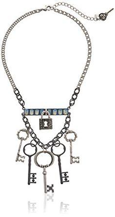 "Betsey Johnson ""Lady Lock"" Lock and Key Necklace 20"" + 3"" Extender Betsey Johnson http://www.amazon.com/dp/B00P7S2Q16/ref=cm_sw_r_pi_dp_oxSYub0HAT1D2"