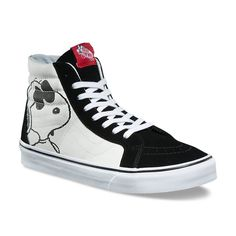 Vans x Peanuts Reissue Vans Sneakers, Vans Shoes, High Top Vans, High Top Sneakers, High Tops, Diy Galaxy Shoes, Steel Toe Shoes, Joe Cool, Cool Vans