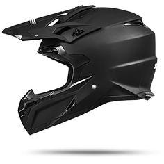 MX Mexico Schwarz matt Gr��e M 57-58cm Enduro Helm mit neuster Sicherheitsnorm ECE 2205