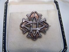 Antique Victorian Jewellery Scottish Celtic Cross Sterling Silver Brooch Pin | eBay