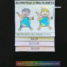 Flipbook do meio ambiente: protegendo o planeta. Atividade onde os pequenos têm os conceitos dos 3Rs: reduzir, reutilizar e reciclar. E demonstram através da escrita ou do desenho como eles podem atuar para concretizá-los no cotidiano. - - - Para BAIXAR entre no meu blog. Link do blog no meu perfil ou pesquise no Google pedagoga Ingrid Moraes e entre no blog❤️. - - - #pedagogia #pedagogaingridmoraes #alfabetização #diadomeioambiente #ensinofundamental #educaçãoinfantil #escola #professora… 1, School, Cover, Books, Instagram Posts, Upper Elementary, Writing, Creativity, Dibujo