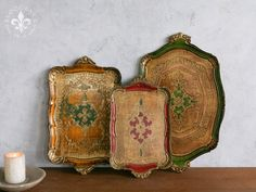Love these decorative granny-chic trays