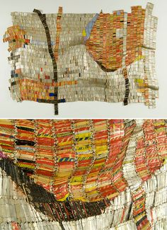 El Anatsui Sacred Moon, 2007 Aluminum and copper wire; 103 x 141 inches Mott-Warsh Collection, Flint, Michigan, 608 Courtesy the artist and Jack Shainman Gallery, New York © El Anatsui