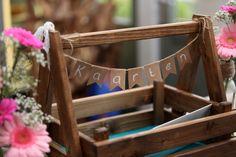 DIY: Basket with brown paper garland (cards) | Enveloppen'doos' met slinger van brown paper (kaarten)